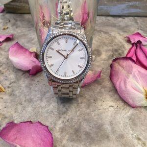 Michael Kors Silver Crystal Women's Watch #MK-6543